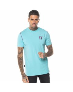 11 Degrees - Contrast Logo T-Shirt - Turquoise
