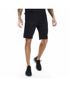 11 Degrees - Gold Taped Poly Shorts - Black