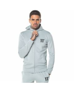 11 Degrees - Core Poly Full Zip Track Top With Hood - Pastel Green