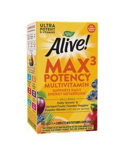 Natures Way - Alive - Max3 Daily  Multivitamin - No Added Iron