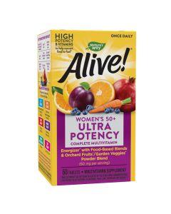 Natures Way - Alive - Once Daily, Women's 50+ Ultra Potency Complete Multivitamin