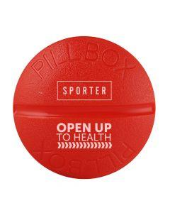 Sporter - Round Pill Box - 4 Parts - Red