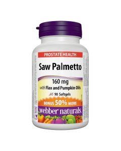 Webber Naturals - Saw Palmetto160 mgwith Flax and Pumpkin Oils