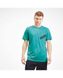 Puma DryCell - Get Fast Excite Tee - Blue Turquoise-Puma Black