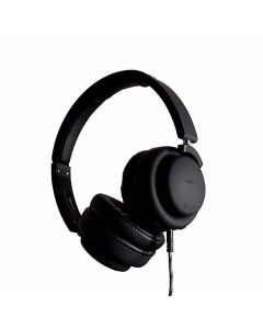 Boompods - Hush Wired Active Noise Cancellation Headphone & Travel Bag Black