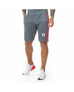 11 Degrees - Cut Off Poly Shorts - Anthracite/Red