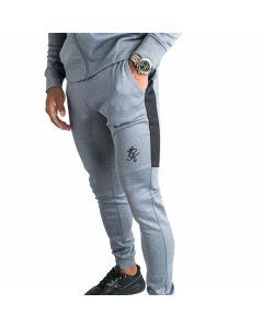 Gym King - Core Plus Contrast Poly Tracksuit Bottoms - Charcoal Marl/Grey Marl