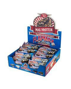 Max Protein - Flapmax with Bits of Cookies Protein Bar - Black Max Box 24