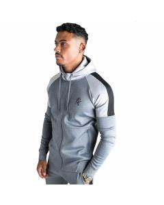 Gym King - Core Plus Contrast Poly Tracksuit Top - Charcoal Marl/Grey Marl