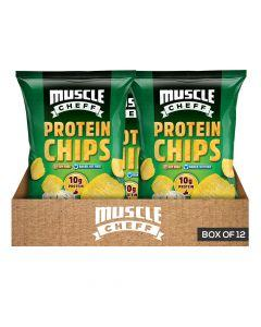 Muscle Cheff - Protein Chips - Sour Cream & Onion - Box of 12