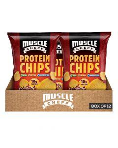 Muscle Cheff - Protein Chips - BBQ - Box of 12