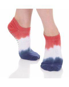 Great Soles -Tie Dyed Grip Sock - Red/White/Blue