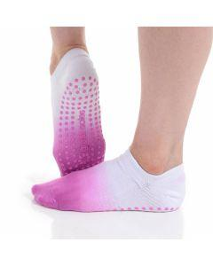 Great Soles - Ombre Dyed Grip Sock - Pink/White