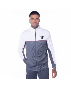 11 Degrees - Piping Poly Track Top - Anthracite/White/Red